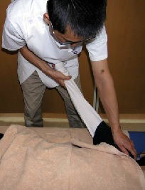 腕の関節整体施術